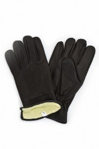 Lederen handschoen met kevlar gevoerd